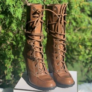 7 For All Mankind Tan Boots
